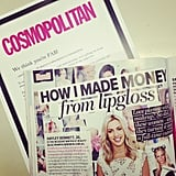 A six-month subscription from Cosmo — definitely don't mind if we do! We spotted former POPSUGAR girl Hayley in amongst the pages, too.