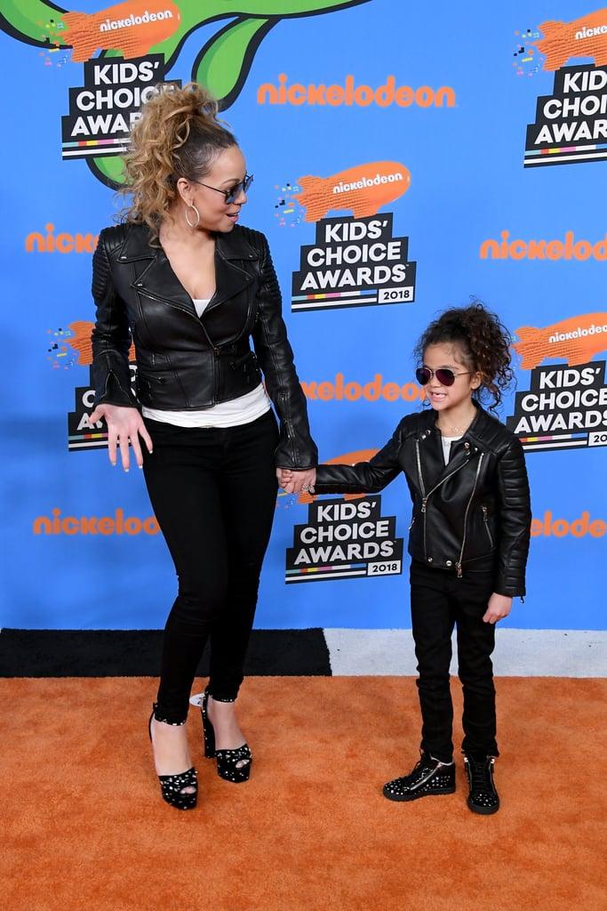 Mariah Carey and Nick Cannon Family 2018 Kids' Choice Awards