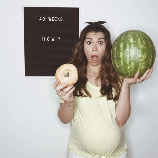 Mom's Letter Board Pregnancy Progress Photos