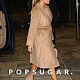 Jennifer Lopez Wearing Her Valentino Rockstud Heels in NYC