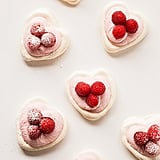 Raspberry Mousse Meringue Hearts