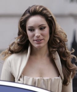 Photo of Kelly Brook's Latest New Hair Style Retro Hair. Love or Hate Her Look?