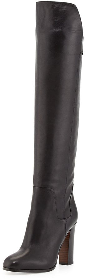 Vince Dempsey Leather Over-the-Knee Boot, Black ($312, originally $695)