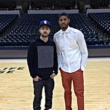Justin Timberlake met up with Indiana Pacers player Paul George during a recent tour stop. Source: Paul George on WhoSay