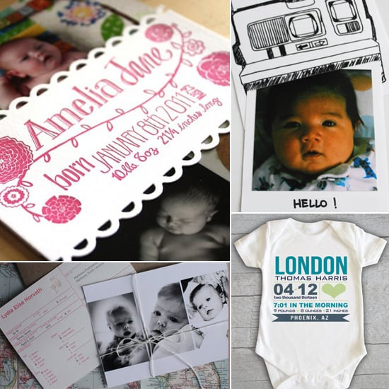 Creative Custom Birth Announcements
