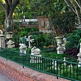 There is a fake pet cemetery hidden behind the Haunted Mansion.