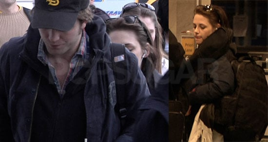 Pictures of Robert Pattinson And Kristen Stewart Leaving Hungary Together