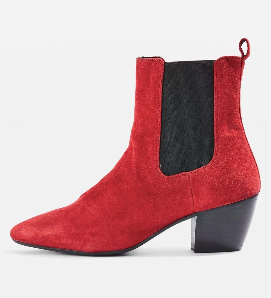 topshop bounty suede western boots boots popsugar