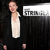 Scarlett Johansson backed 2013 NYC mayoral candidate Scott Stringer as she hosted a party in his honor at the Maritime Hotel in NYC.
