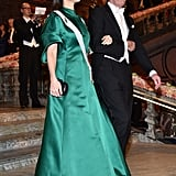 While Princess Sofia Opted For Something Emerald Green