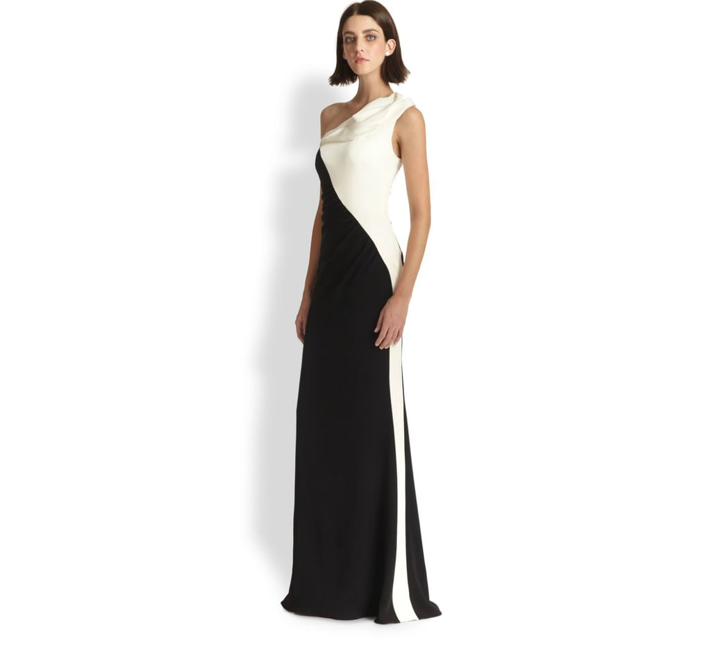 Badgley Mischka Asymmetrical Gown