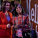 POPSUGAR: Olivia and Mellie's relationship has also gone through a massive overhaul on Scandal this season — would you say their friendship is genuine, or one borne out of necessity?  Bellamy Young: I really believe it to be genuine. Kerry [Washington] and I have talked all through these years about how sad we are that Mellie and Olivia never got the chance to be friends, because they have so much in common, and DC can be such a crucible. True friends are few and far between, but they had Fitz as a lever between them, so they could never be on the same page, or easily in the same room. Now that they're both post-Fitz, to some degree or another, it's left room for that warmth to really come in.  PS: What has it been like for your character to suddenly shift gears and be on the same side as Olivia for once? BY: We've had so much fun this year, so much fun doing the scenes as Kerry and Bellamy, but also so much release as Liv and Mellie, to be able to lean on someone. Neither one of them has a person that they can really, actually lean on. They've both been through the fire, and have similar experiences and such shared history, that there's a lot of ease at this point now, and camaraderie. But life is like that, right? Life is complicated, and love is complicated, and I think those characters really have great, great love between them, and are smart enough women to transcend the pettiness of their history. I think they're both beyond that chapter, so it's enabled them to be warm and supportive of each other. PS: Will they continue to be friends in the coming seasons?  BY: I hope so!