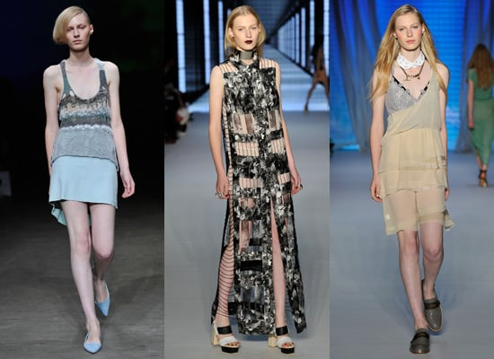 Photos of Julia Nobis on the Runway at RAFW 2010