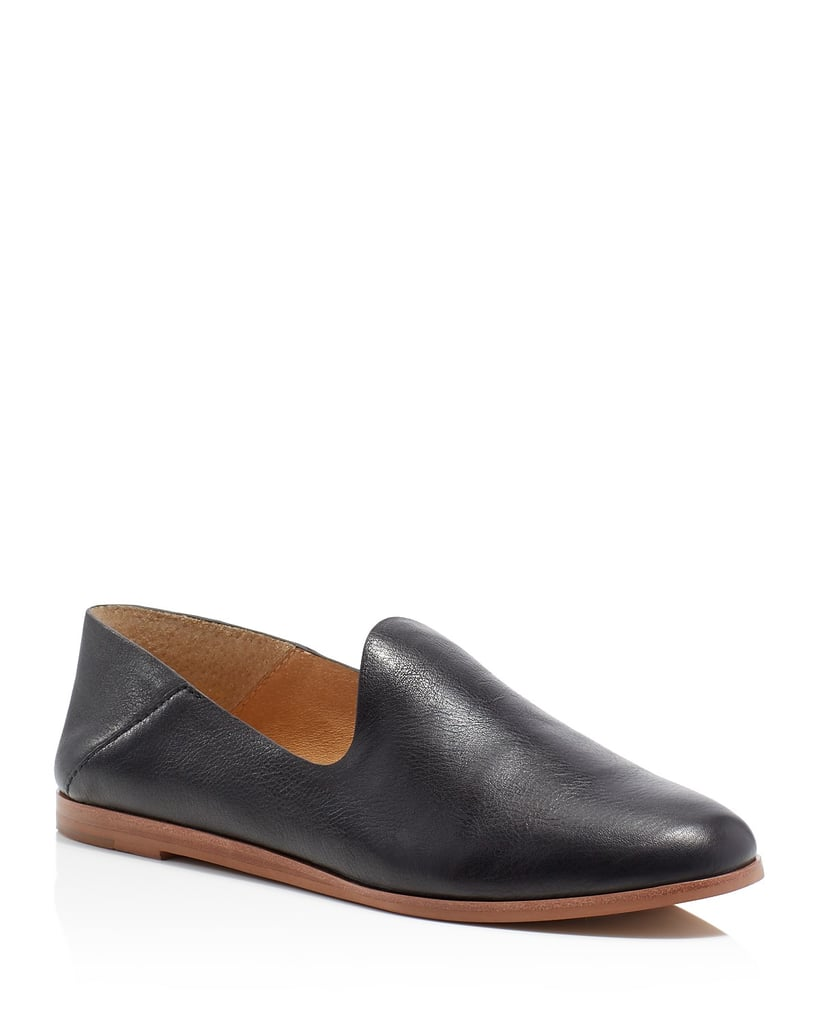 Instead of wearing the traditional black ballet flat, try this Dolce Vita slipper ($140). The loafer style works for casual Fridays at the office and goes well with denim.