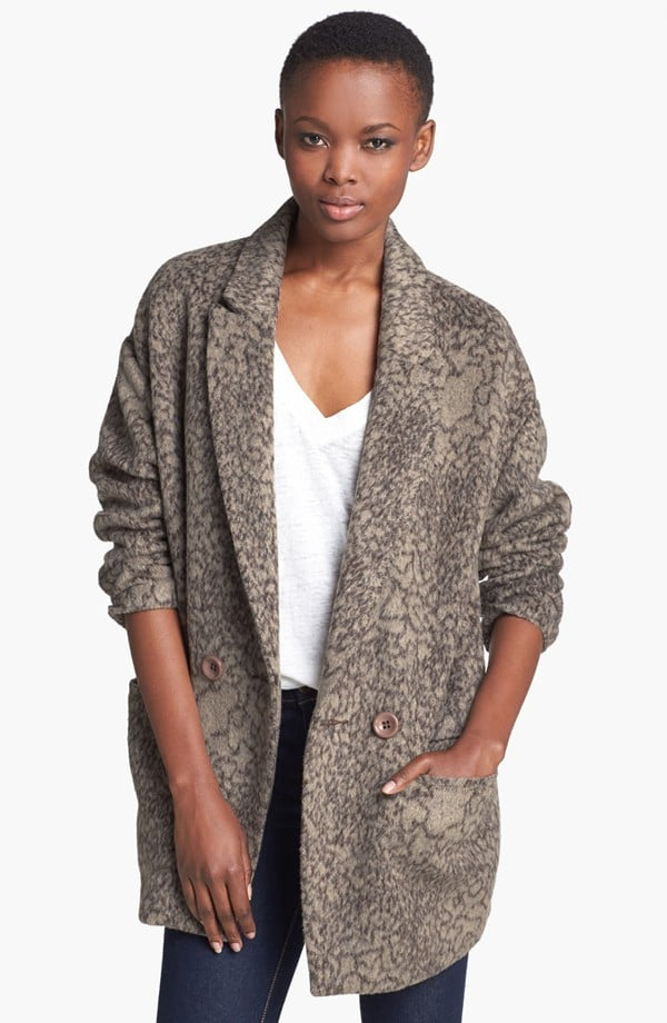 Subtle texture, subtle print, and a perfectly slouchy menswear fit make this ASTR Print Oversized Coat ($98) a clear favorite.