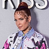 Halsey Wore a Sleek Top Knot With Elegant Baby Hairs