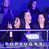 Selena Gomez snapped pics, while Katy Perry watched the show with a friend.