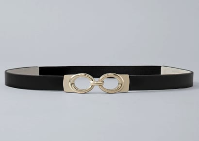 Patent Skinny Stretch Belt