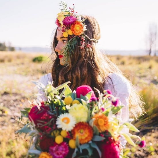 Instagram Photos of Brides Wearing Bright Coloured Lipstick