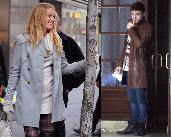 Photos of Ed Westwick and Blake Lively on Gossip Girl Set