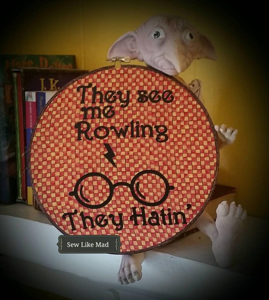 Rowling Embroidery Hoop ($20)