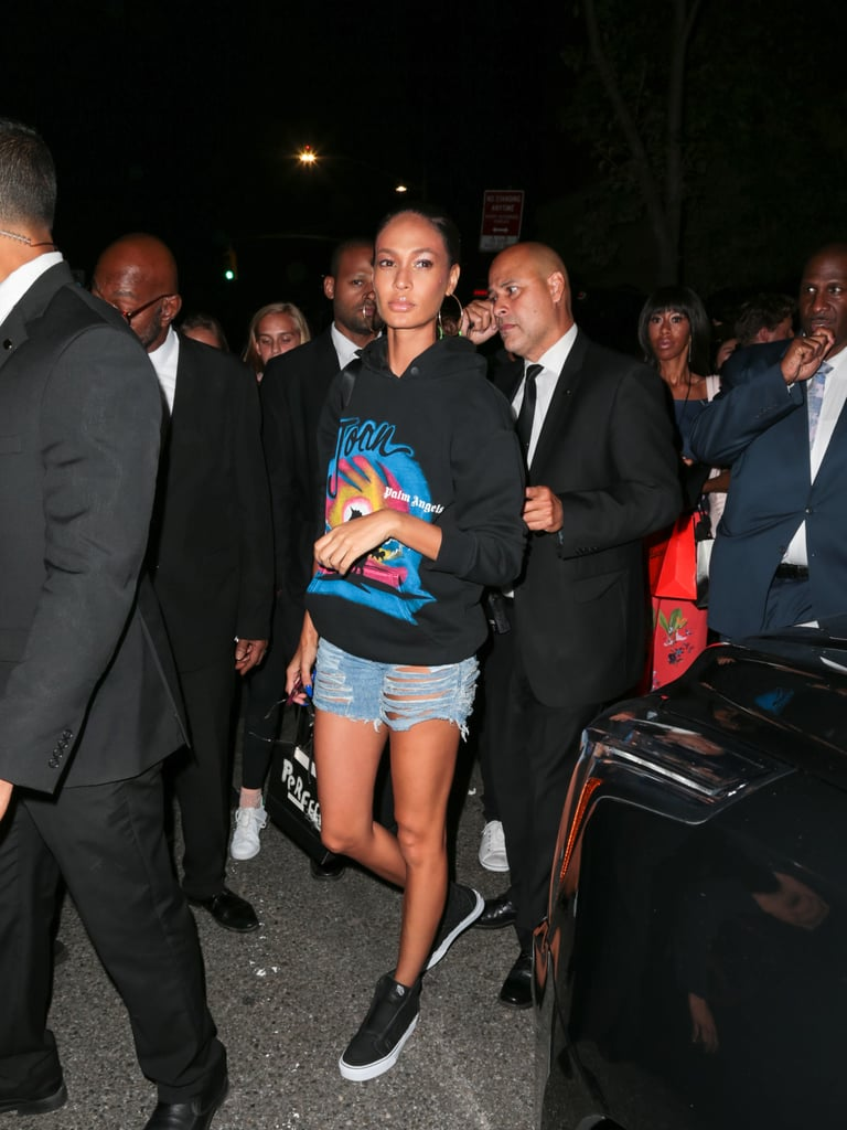 Joan Smalls Kept It Casual in a Hoodie With Her Name on It