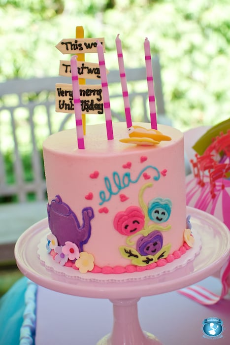 Alice In Wonderland Birthday Cake Fall Down The Rabbit Hole And