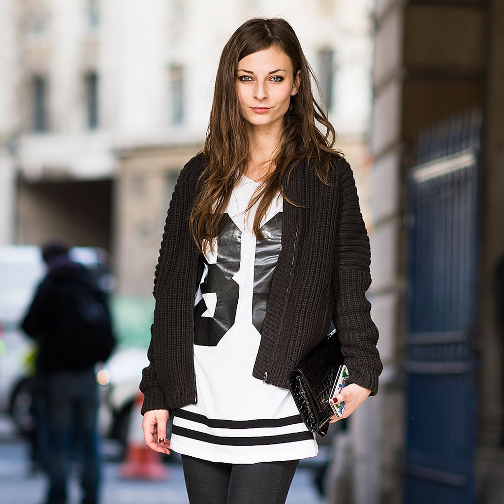 Black And White Street Style Trend At Fashion Week 2013
