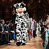 A Cow Character From the Stella McCartney Fall 2020 Water Runway at Paris Fashion Week