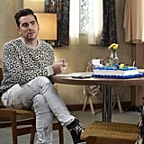 David Rose's Animal Print Sweater on Schitt's Creek