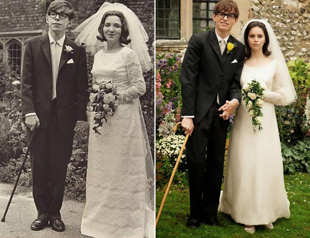eddie redmayne stephen hawking comparison. stephen hawking wedding photo with eddie redmayne popsugar entertainment comparison popsugar