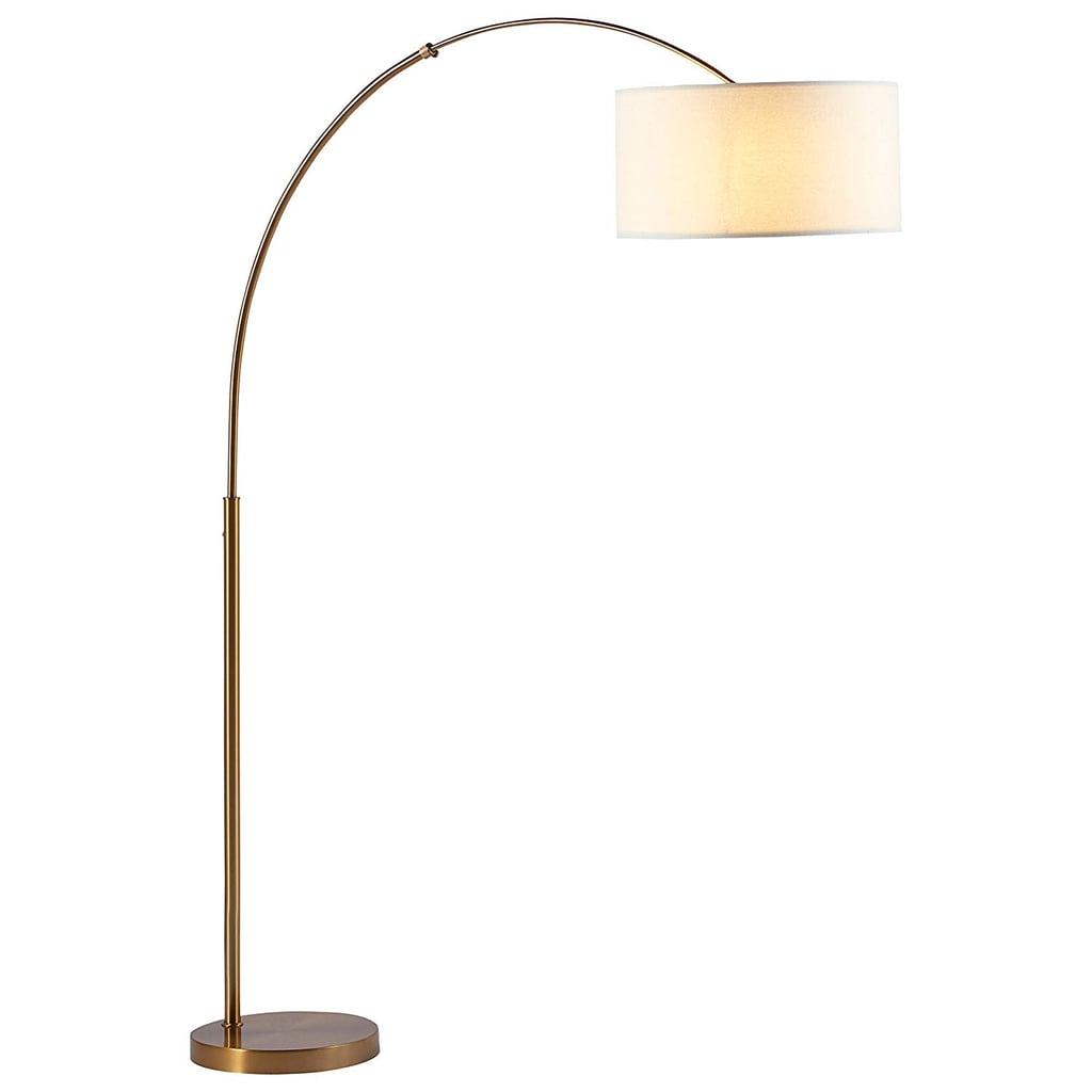 Rivet Brass Arc Mid Century Modern Living Room Standing Floor Lamp Stylish And Cosy Home Decor 2019 Popsugar Home Australia Photo 7