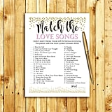 Match the Love Songs Game