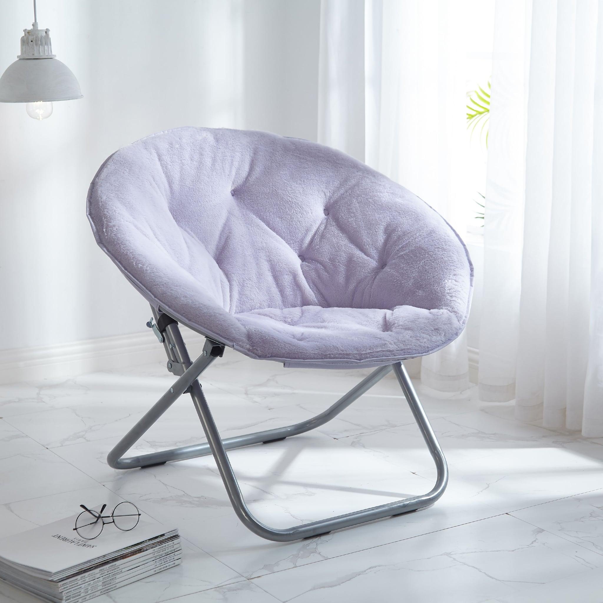 Pillar Faux-Fur Saucer Chair