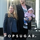Chris Hemsworth and Elsa Pataky walked around London with India.