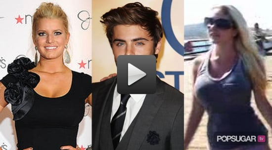 Video of Jessica Simpson in New York, Zac Efron Talking About His Beard, and Heidi Montag Holding Hands With Spencer Pratt 2010-09-16 14:30:00