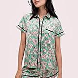 Kate Spade New York Fresh Flora Green Short PJ Set