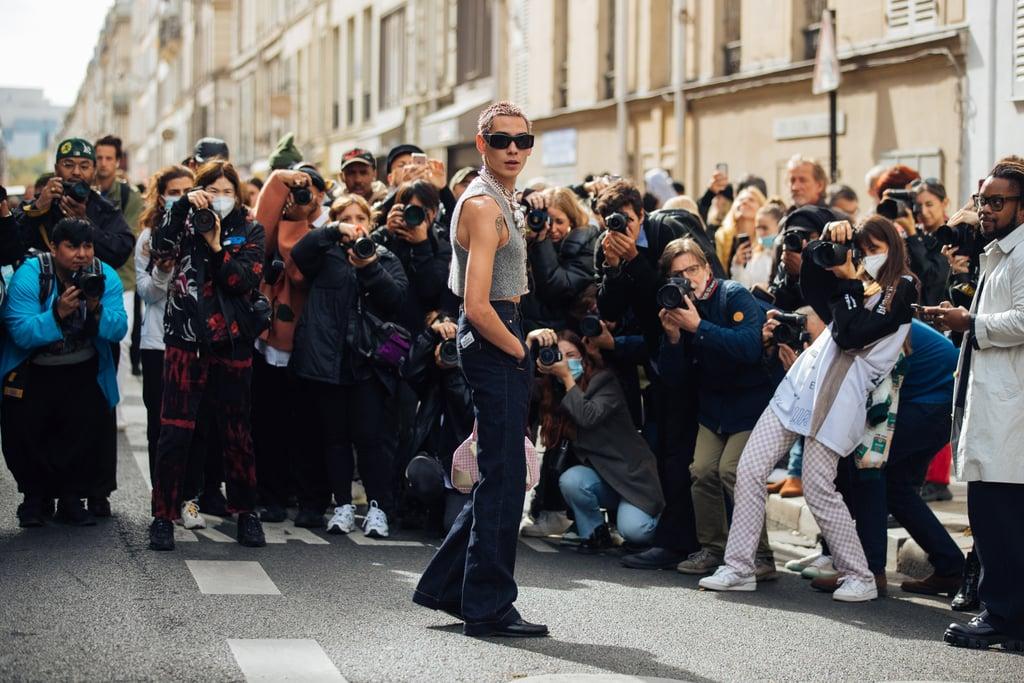 See Evan Mock's Outfits at Fashion Week Spring/Summer 2022