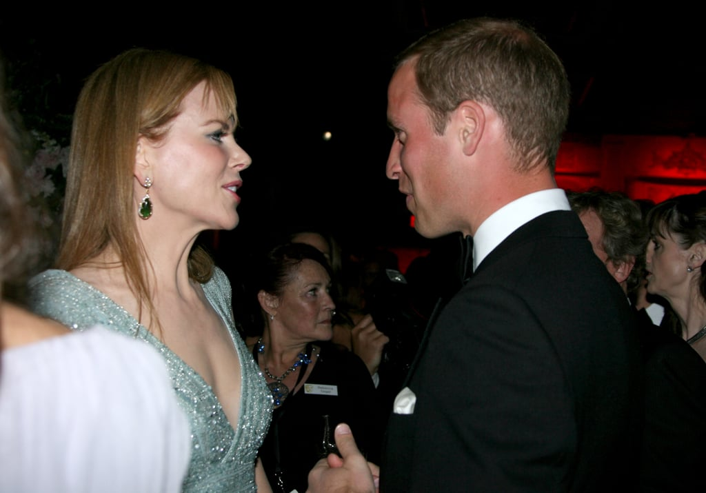 Nicole Kidman with Prince William at the BAFTA Brits to Watch event in LA.