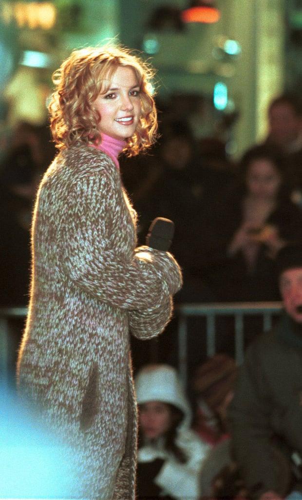 Britney Spears 1999 Celebrities At Rockefeller Center