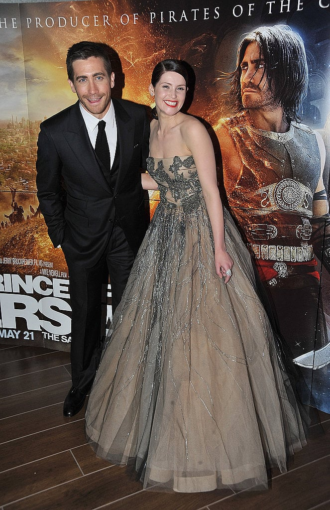 Jake and his Prince of Persia costar Gemma Arterton in pre-Fall Valentino; they both look super sharp.