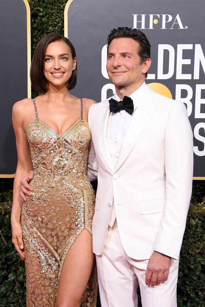 Bradley Cooper and Irina Shayk at the 2019 Golden Globes ...