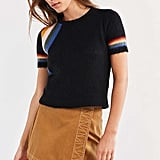 Cooperative Short Sleeve Rainbow Sweater