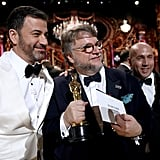 Pictured: Jimmy Kimmel and Guillermo del Toro