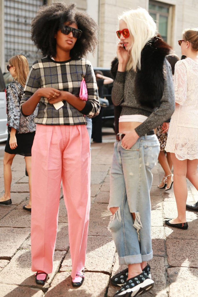 Julia Sarr-Jamois rocked pink pants like the pro that she is.