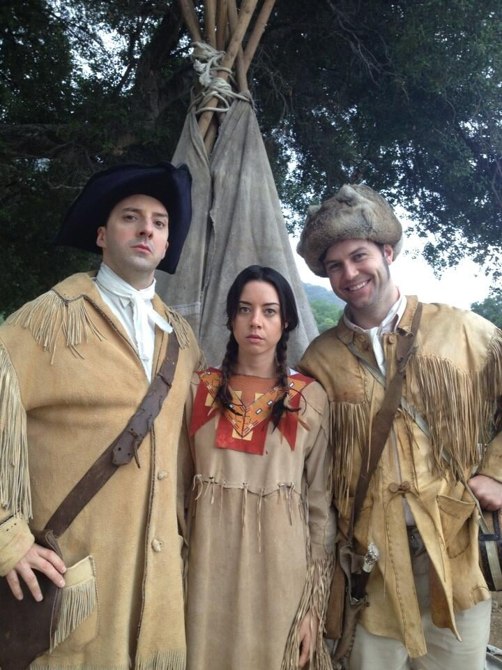 Tony Hale shared a picture with Aubrey Plaza and Taran Killam that we're hoping is a shoot for Drunk History.  Source: Twitter user MrTonyHale