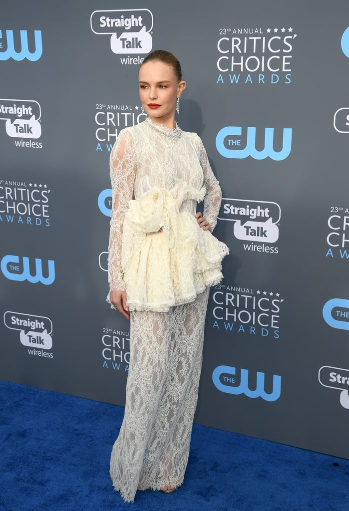 Kate Bosworth's White Dress at Critics' Choice Awards 2018