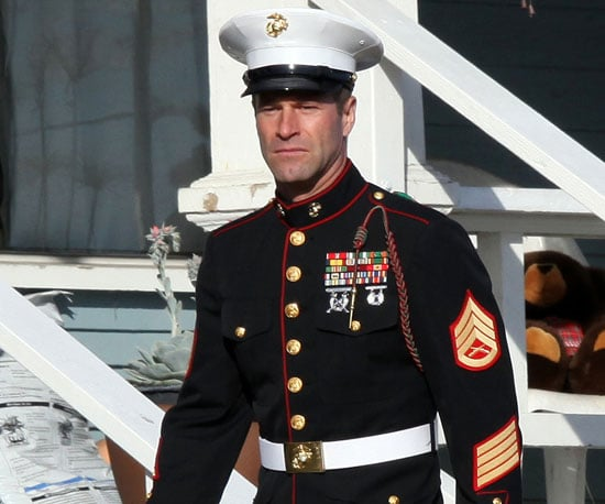 Slide Photo of Aaron Eckhart in Military Uniform in LA