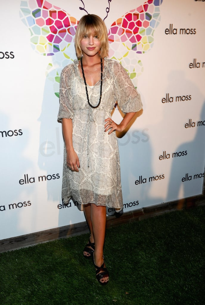 Dianna Agron at an Ella Moss party.