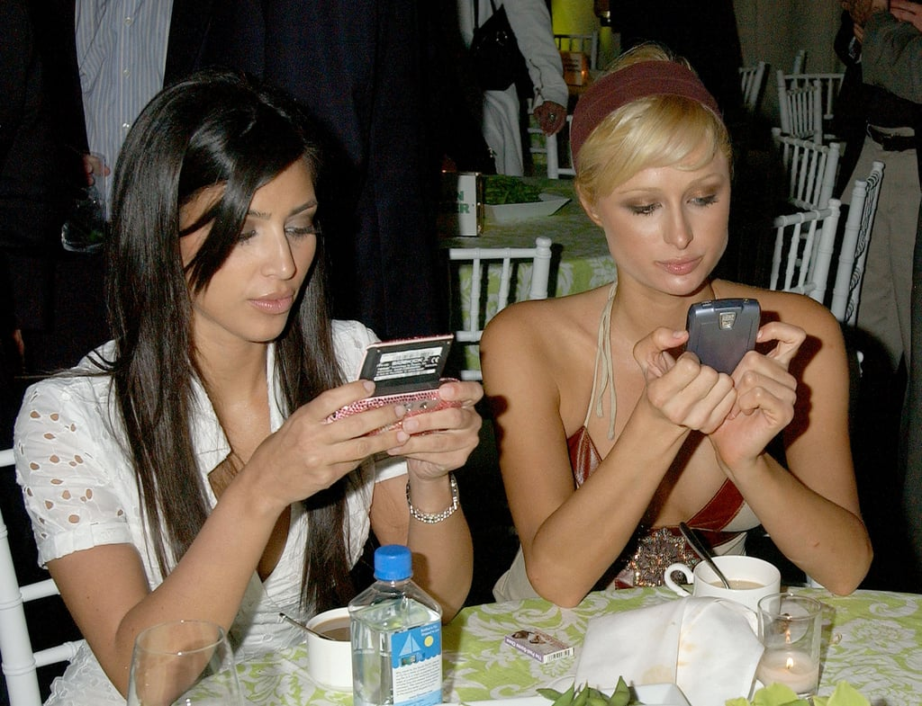 Kim and her BFF Paris Hilton were all texts, no talk at the LA premiere of Entourage in June 2006.